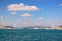 bosporus sea of straits. istanbul, turkey - stock photo