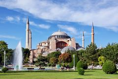 hagia sophia is the famous historical building of the istanbul. now it's a mu - stock photo