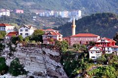 Amasra hillside view Stock Photos