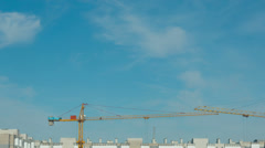 View of construction site. Time lapse. Stock Footage