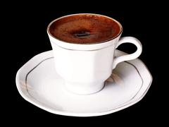 Turkish coffee in a porcelain cup Stock Photos