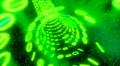 Binary tunnel wormhole flight through space warp speed dimension CRT green Footage