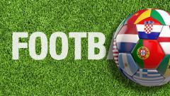 Football World - Mundo do Futebol Stock Footage