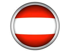 National Flag of Austria . Button Style . Stock Photos
