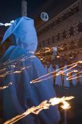 nazarene between flames - stock photo