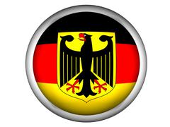 National Flag of Germany . Button Style . - stock photo