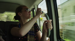 MS Tourist looking out car window / Soufriere, St. Lucius, Stock Footage