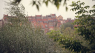 Cityscape of old town in Warsaw (unesco heritage site in Poland). Stock Footage