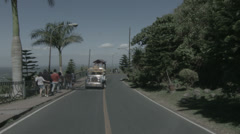 Philippine Jeepney Ride Stock Footage