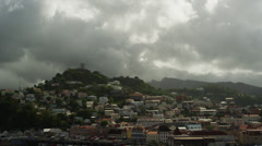 WS Townscape under cloudy sky / St. Georges, Grenada, Stock Footage