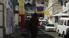 WS Street scene / St. Georges, Grenada, Stock Footage