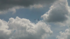 3x Ikarus C42b flying heart with arrow Stock Footage
