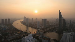 Bangkok at Sunset, Thailand Stock Footage