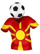 National Soccer Team of Macedonia . All Teams Collection . Stock Photos