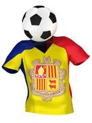 National Soccer Team of Andorra . All Teams Collection . Stock Photos
