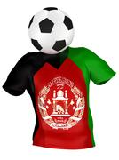 National Soccer Team of Afghanistan . All Teams Collection . Stock Photos