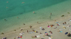 Time lapse of people enjoying the beach / Villafranche, France - stock footage
