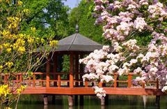 Japanese pagoda - stock illustration