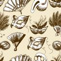 Hand Drawn Carnival  Seamless Background Stock Illustration