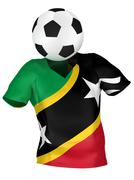 National Soccer Team of Saint Kitts and Nevis | All Teams Collec Stock Photos