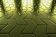 Stock Illustration of golden arrow blocks flooring perspective view
