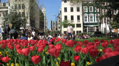 Lunch time in Soho Square London Stock Footage