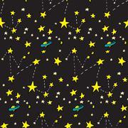 Seamless Constellations - stock illustration