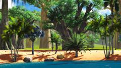 African savannah - stock illustration