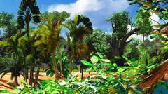 African savannah Stock Illustration