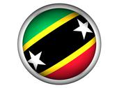 Stock Photo of National Flag of Saint Kitts and Nevis . Button Style .