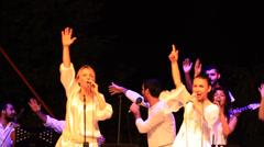 Group KARDES TURKULER performs onstage Stock Footage