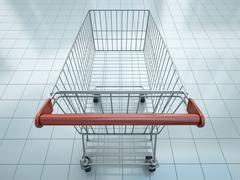 Shopping cart - stock illustration