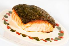 Stock Photo of Salmon fillet with crispy crust