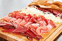 Assorted meat delicatessen - stock photo