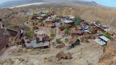 Calico Ghost Town Regional Park- High And Wide View Stock Footage