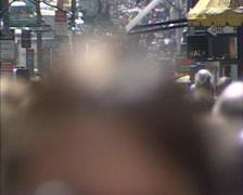 NEW YORK - 1980s: pedestrians, crowd 5th avenue Stock Footage