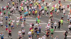 Nordea Riga marathon runners, 18.05.2014 Stock Footage