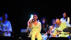 Feryal Oney singing Armenian folk music Stock Footage