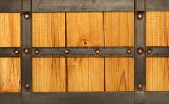 Leather belt and wooden plank - stock illustration