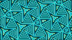 Geometric kaleidoscope deep zoom - full hd Stock Footage