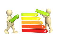 Energy efficiency - stock illustration