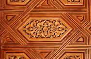 Stock Illustration of Antique carved wooden ornament in Alhambra, Spain