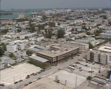 MIAMI BEACH - 1980s: aerial south point, marine harbour meloy channel Stock Footage