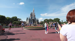 Cinderella's Castle 8 Stock Footage