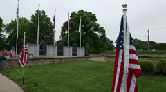 Veterans Memorial on Memorial Day Stock Footage