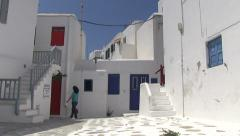 traditional Greek houses - stock footage