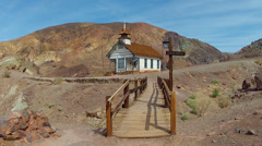 Old West One Room School House- Calico Ghost Town Park Stock Footage