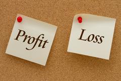 Profit versus loss Stock Illustration