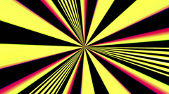 Retro light rays hypnotic loop - 1080p Stock Footage