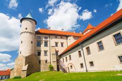 view of nowy wisnicz castle, poland - stock photo